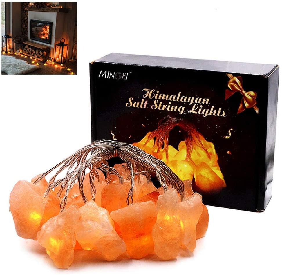 himalayan salt rock fairy lights