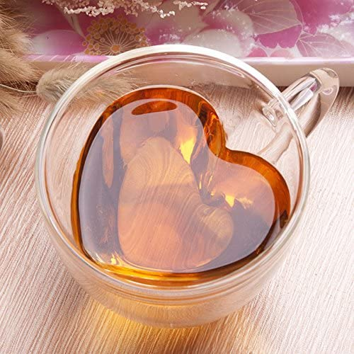 heart glass coffee mugs