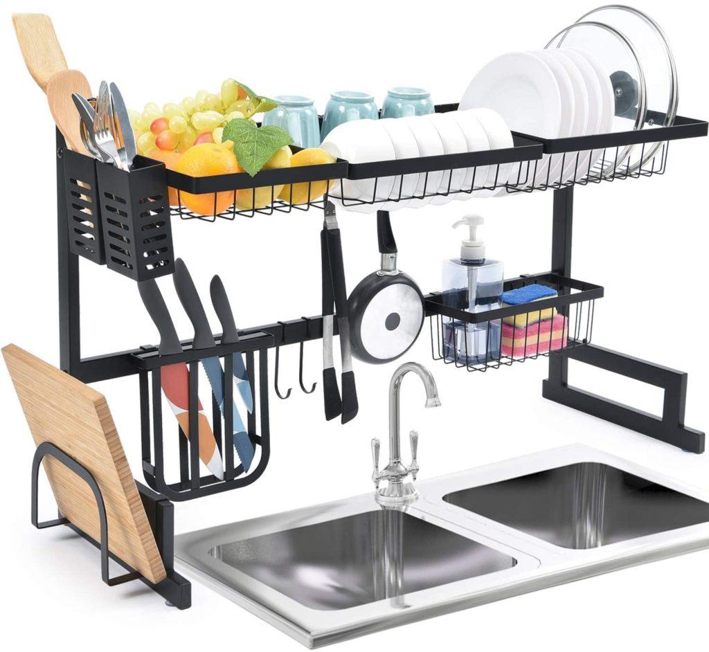 Best Black - 2-tier Over the Sink Dish Rack