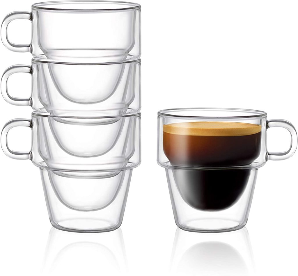 Stoiva Stackable Espresso Glass Cup