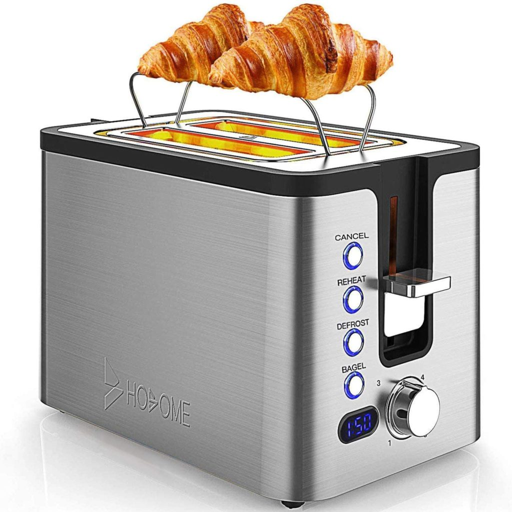 Toaster with Warming Rack Apartment Gadget