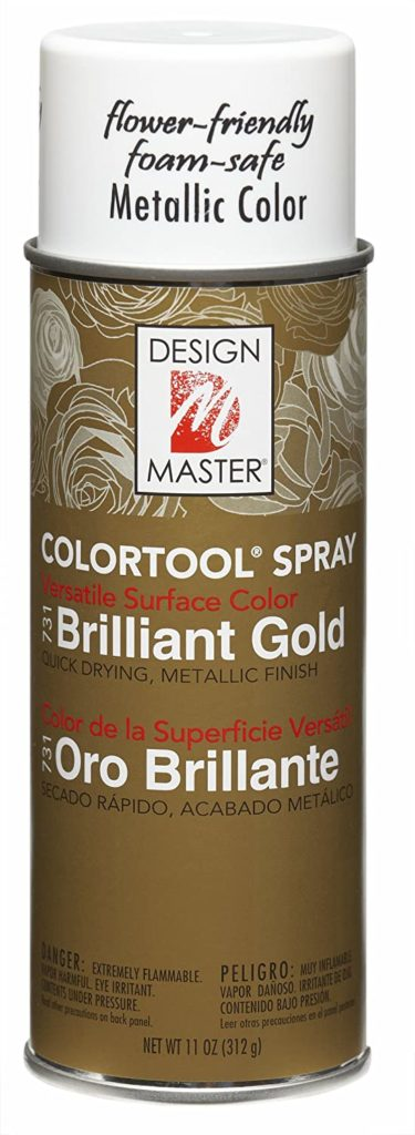 design masters gold spray paint