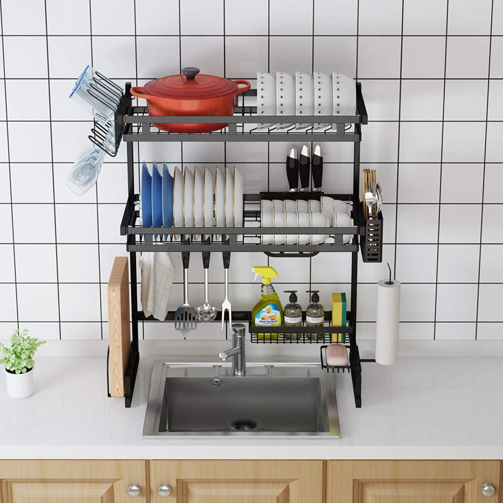 Best for Small Sink - 3 Tier Over the sink dish rack