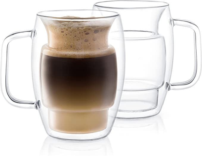 Cadus Double Wall Coffee Glass Mugs