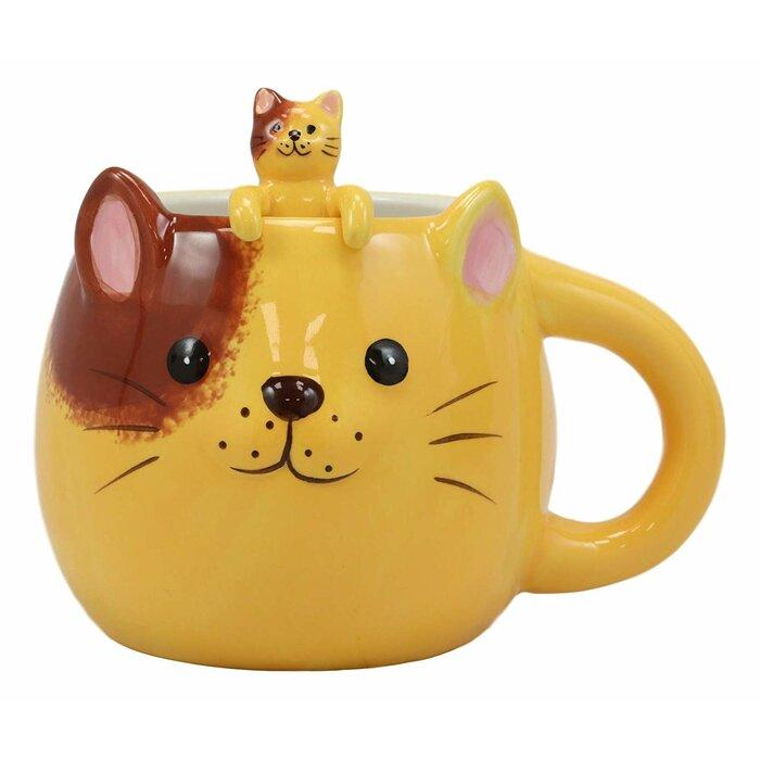 Whimsical Cat Coffee Mug