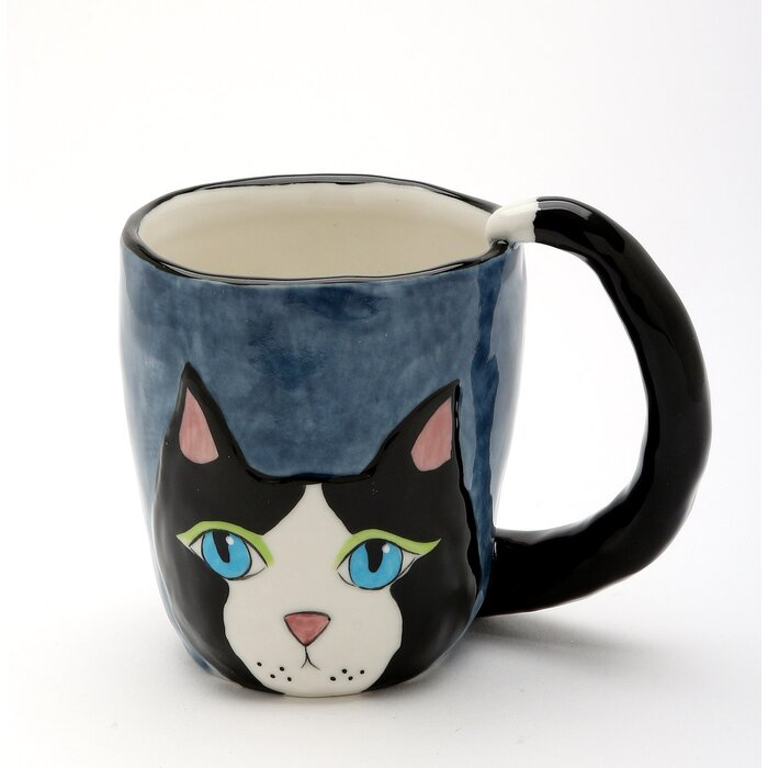 Peekaboo Cat Coffee Mug