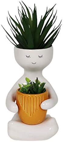 Person with Pot Planter
