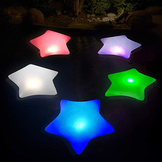 Inflatable Colorful Solar Star Pool Lights