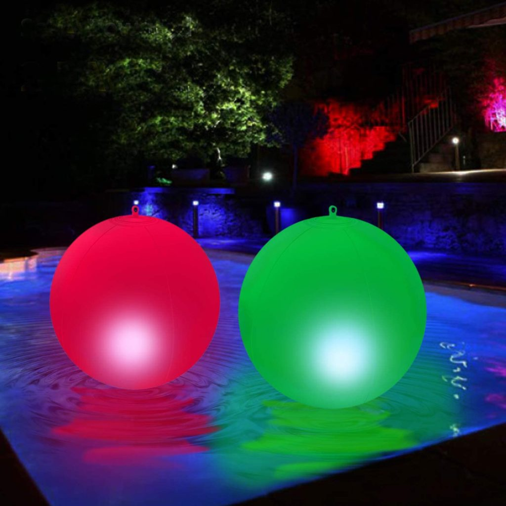 Solar-Powered Inflatable Floating Globe Lights