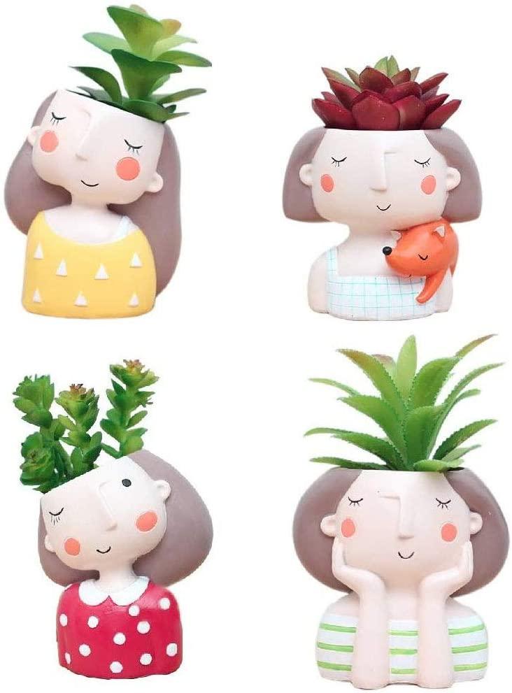 Cute Girls Unique Planter Pot