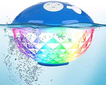Bluetooth Speakers with Colorful Pool Lights