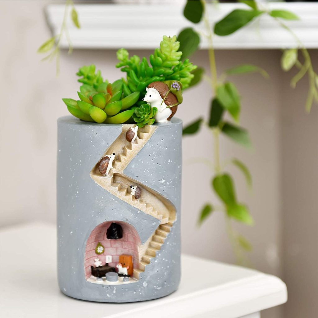 Cute Hedgehog Family Planter Pot