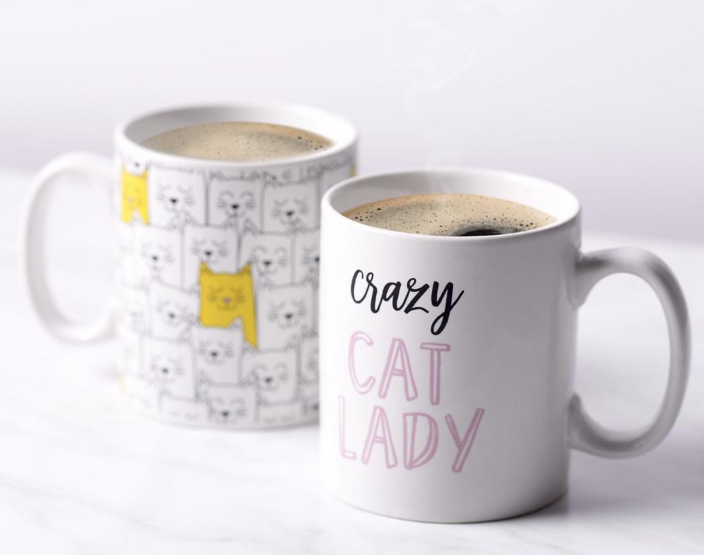 Kate & Milo Cat Lady Coffee Mug Set