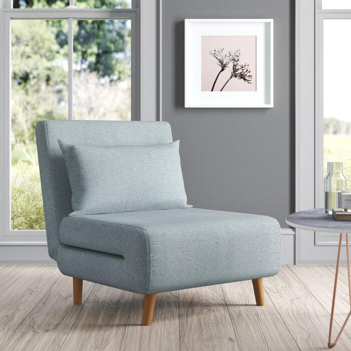 Wide Pillow Back Futon Chair for Sciatica