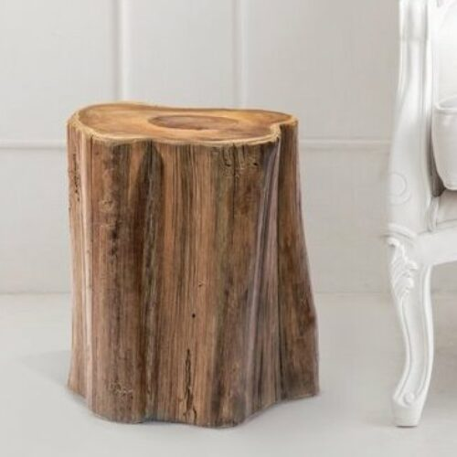 12 Best Log Side Tables For a 'Cabin in the Woods' Vibe